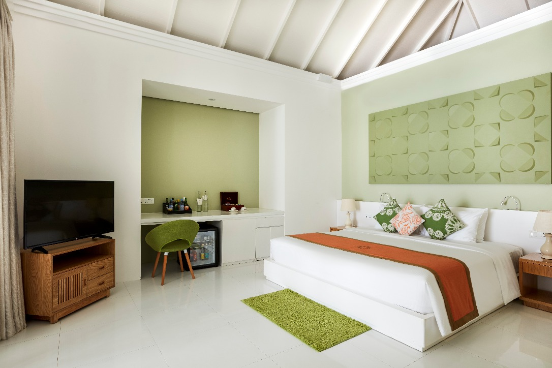オルヴェリ プール付きグランドビーチスイートのベッドルーム